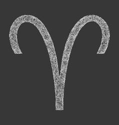 Aries zodiac sign line art vector