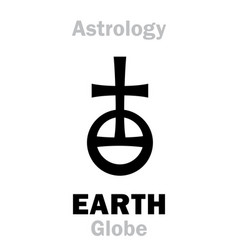 Astrology sign of earth globeorb vector