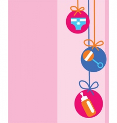 baby decorations vector image vector image