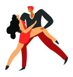 ballroom dance pair dancing tango isolated vector image