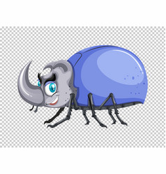Beetle with blue shell vector