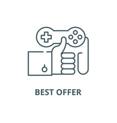 best offer line icon best offer outline vector image