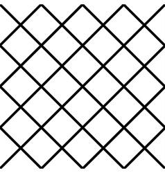Black White Grid Chess Board Diamond Background vector image