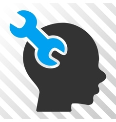 Brain Service Wrench Icon vector image