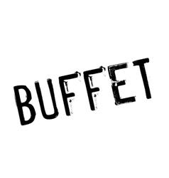 Buffet rubber stamp vector