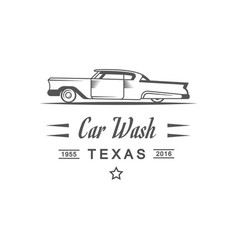 car wash logotype vector image