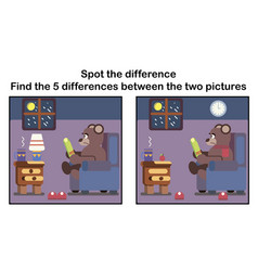 cartoon spot the difference vector image