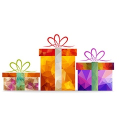 Christmas geometrical gifts for design vector