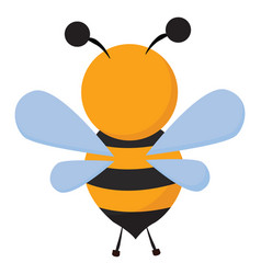 Clipart a bee set on isolated white background vector