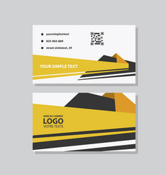 creative and clean business card template flat vector image