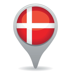 danish flag pointer vector image