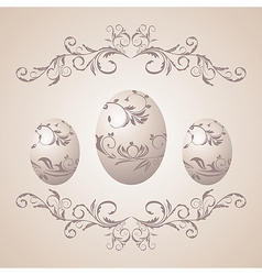 Easter floral background vector image