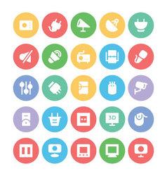 Electronics icons 10 vector