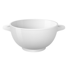 Empty soup plate realistic style vector