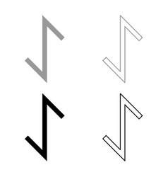 Eywas rune yew strength egis symbol icon set grey vector