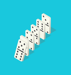 Falling dominoes domino effect chain reaction vector