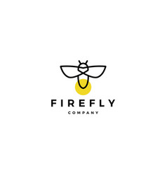 firefly logo icon design inspirations vector image