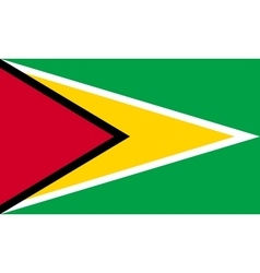 Flag of Guyana in correct proportions and colors vector image