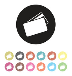 floating credit card icon set vector image