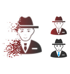 fragmented pixel halftone agent icon vector image