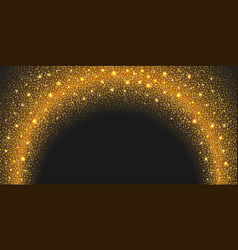 golden glitter background with glowing sparks vector image