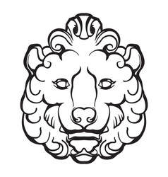 gothic lion head vector image
