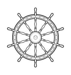 Graphic marine steering wheel vector