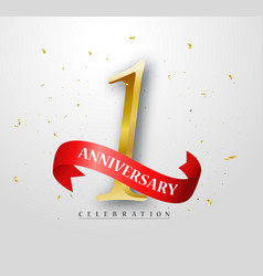 happy anniversary banner celebration vector image