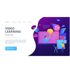 How-to videos concept landing page vector