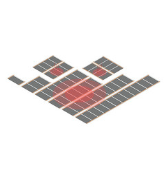 isometry infrared floor heating system vector image