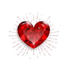 jewel hearts vector image