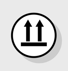 logistic sign of arrows flat black icon vector image