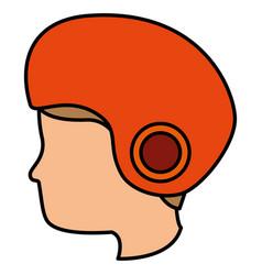 man with motorcycle helmet vector image