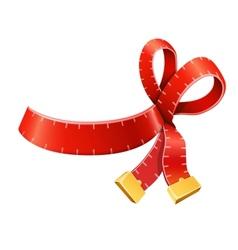 Measure tape ribbon bow vector