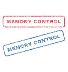 Memory control textile stamps vector