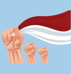 Merdeka indonesia celebration vector