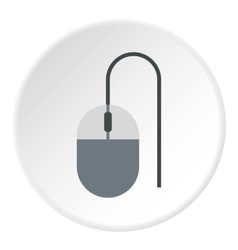 Mouse of computer icon flat style vector image