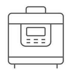 Multicooker thin line icon kitchen and cooking vector