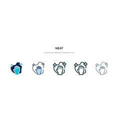 Neat icon in different style two colored and vector