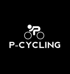 p-cycling logo template vector image