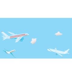 Passenger airplanes vector