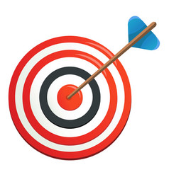 perfection target icon cartoon style vector image