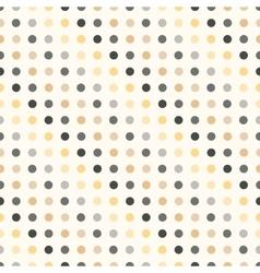 Polka dot seamless pattern in vintage colors vector image