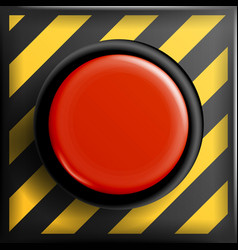 Red panic button sign red alarm shiny vector