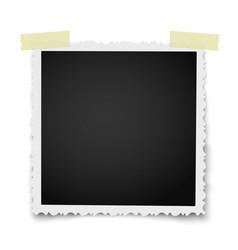 retro realistic square photo frame vector image