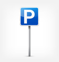 Road blue signs collection isolated on white vector