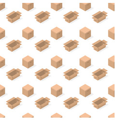 seamless background from a set of cardboard boxes vector image