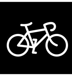 simple bike icon vector image