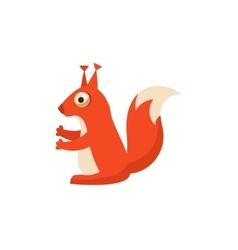 Squirrel Simplified Cute vector