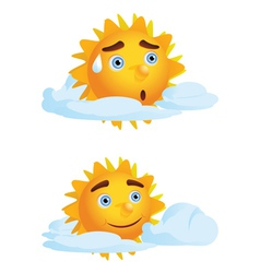Sun with Clouds2 vector image